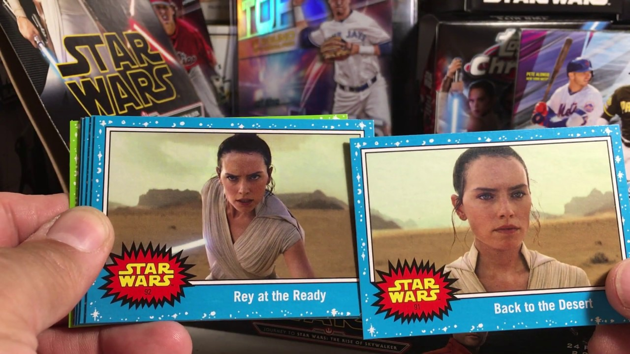 2019 Topps Star Wars Cards Opening Series 129 Hobby Box 4 Of Journey To The Rise Of Skywalker Youtube