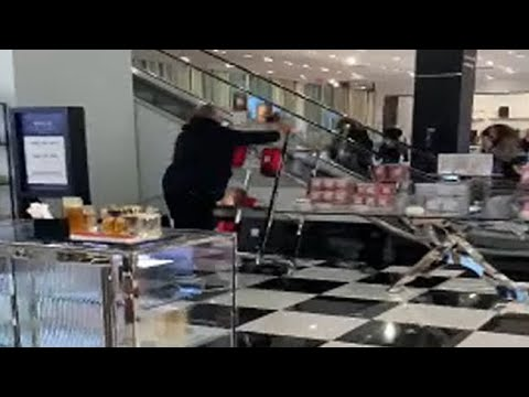 Weird News - Unhinged Man Completely Trashes Cosmetics Section In Bloomingdale's