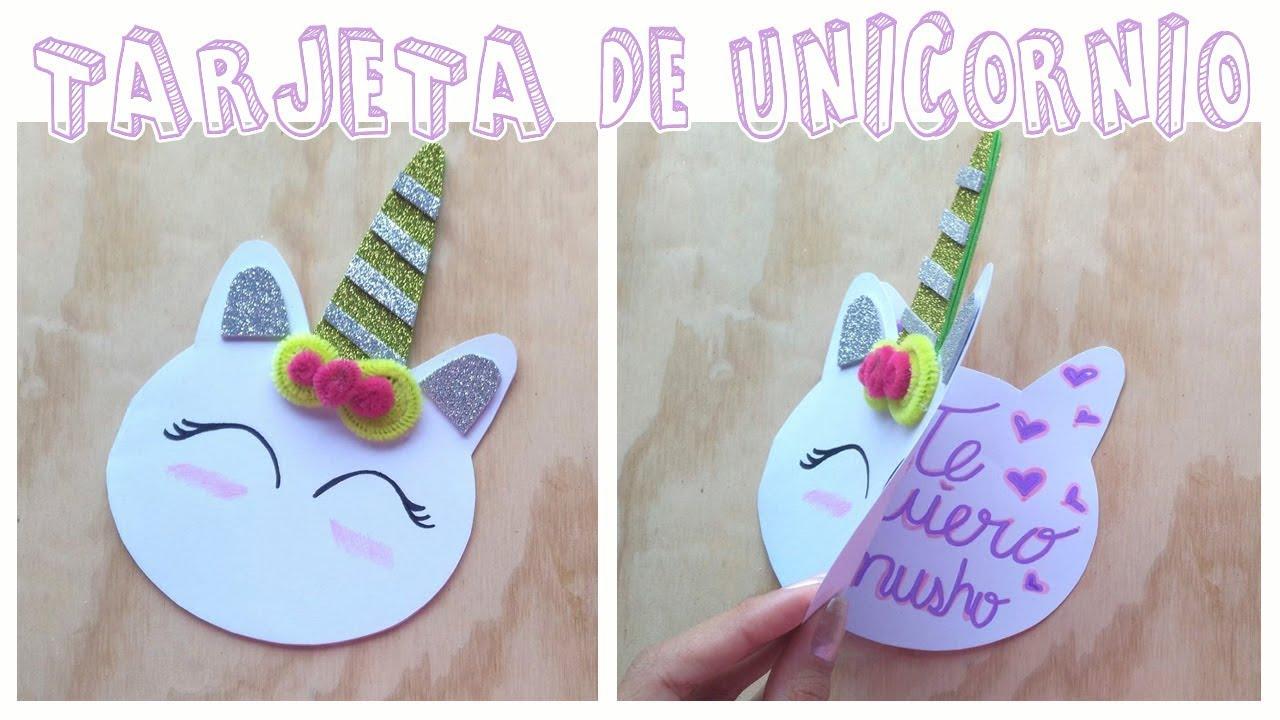 2cbc034627111 Tarjeta con forma de unicornio │Candy Bu - YouTube
