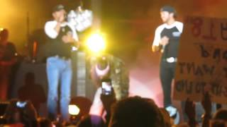 "Jason Aldean pranks Luke Bryan during ""Country Girl"" Dallas, TX 10.27.12"