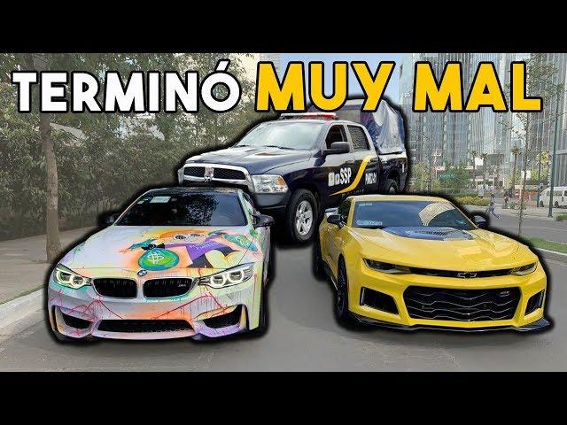 LA P0L1CIA ME QUIZO QUITAR CAMARO ZL1 POR JUGAR C4RRERAS CON BMW M4 || ALFREDO VALENZUELA