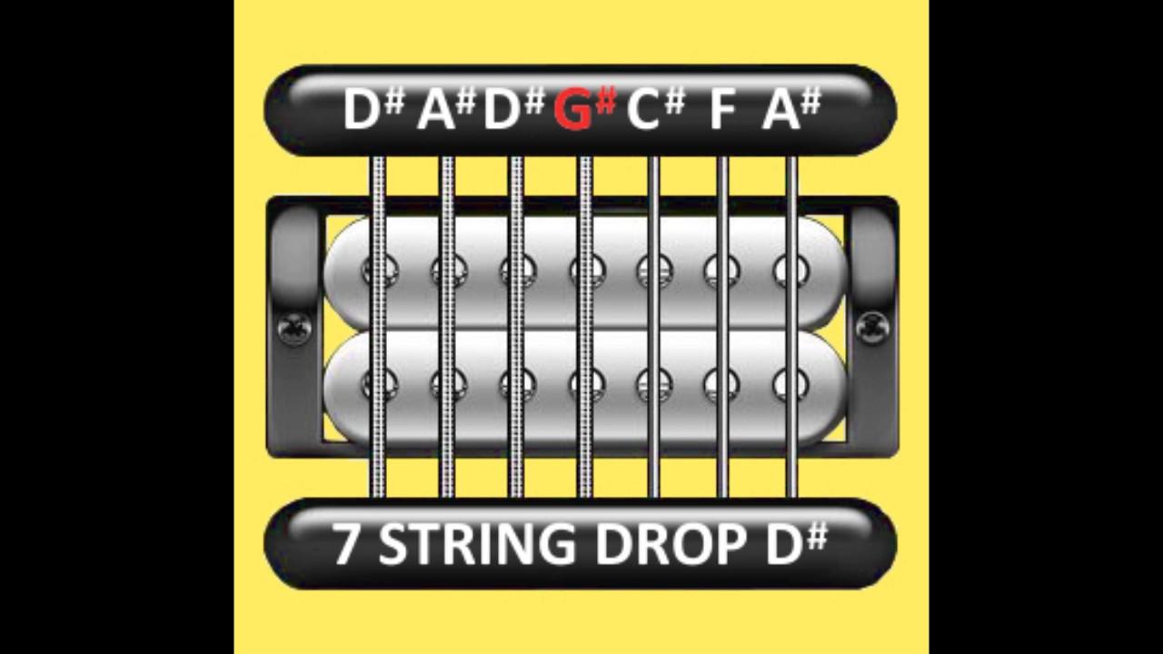 perfect guitar tuner 7 string drop d d a d g c f a youtube. Black Bedroom Furniture Sets. Home Design Ideas