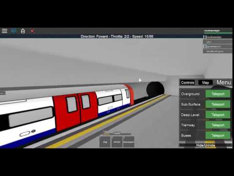 (Roblox) Operating the various Transport vehicles of London Underground P2