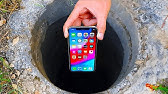 Dropping an iPhone 11 Pro Down a Hole