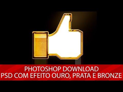 Photoshop Download: PSD com efeito Ouro, Prata e Bronze