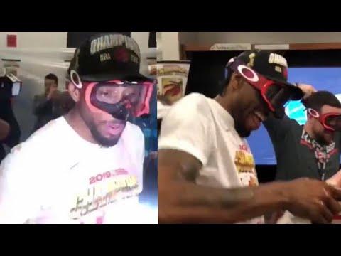 Kawhi STARTS OFF Raptors Championship Locker Room Celebration