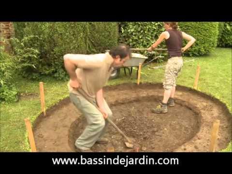 Construction D Un Bassin De Jardin Avec Cascade Youtube