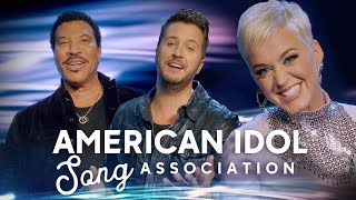 Song Association with Katy Perry, Lionel Richie, and Luke Bryan - American Idol 2019 on ABC
