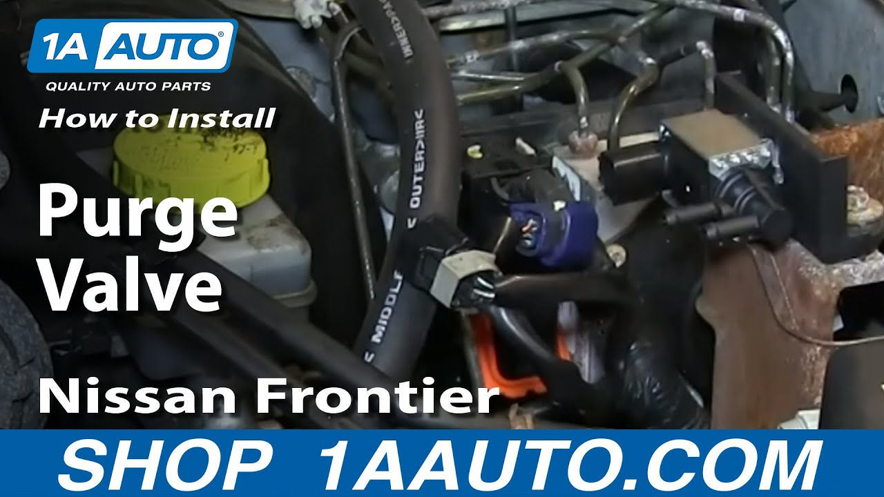 how to install replace canister vapor purge valve 2000 04 nissan frontier youtube [ 1920 x 1080 Pixel ]
