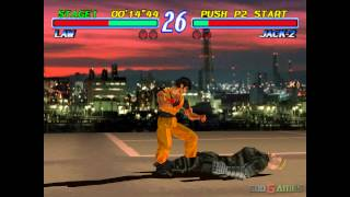 Tekken 2 - Gameplay PSX / PS1 / PS One / HD 720P (Epsxe)