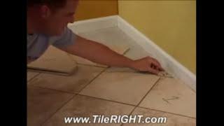 How to measure Diagonal Tile Cuts, Diamond tile cuts, and more tile measuring tool