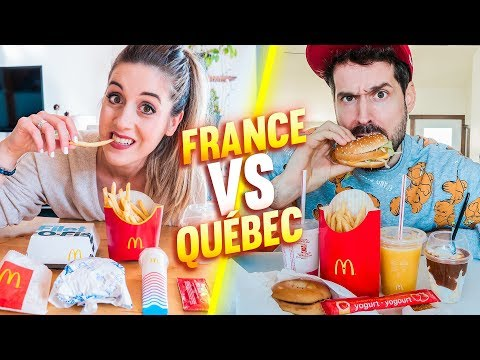 MCDO EN FRANCE VS AU QUÉBEC | DENYZEE ft. HUBY