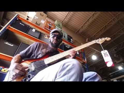 Sam Johnson bass player Tampa music store(8)