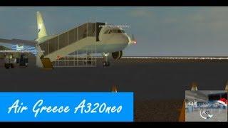 Roblox Flug -:- Air Greece A320neo -:- Ich habe definitiv BC ;)