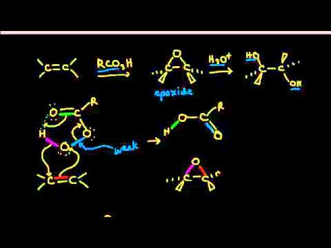 Epoxide formation and anti dihydroxylation | Alkenes and Alkynes | Organic chemistry | Khan Academy