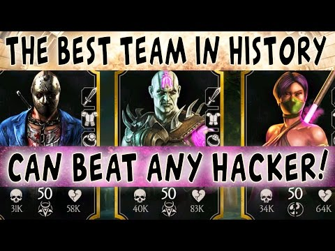 THE BEST TEAM IN MKX MOBILE 1.13! NO LOSSES YET. DESTROYS HACKERS. Jade is BROKEN!!!