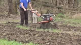 мотокультиватор Husqvarna TF 338 отлично справился с целиной  farming land plowing
