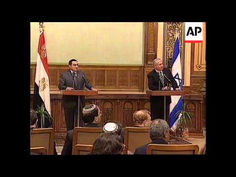 EGYPT: ISRAELI PRIME MINISTER NETANYAHU VISIT CONTINUES