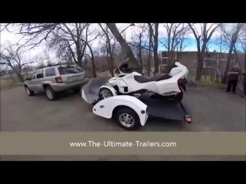 can am spyder trailer can am spyder trailer spyder trailer youtube. Black Bedroom Furniture Sets. Home Design Ideas