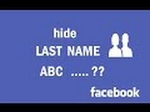 Image result for Hide Last Name On Facebook?