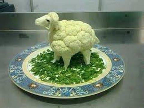 Украшение салатов в виде барана на новый 2015 год