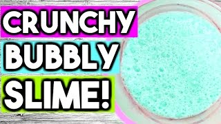 How to Make Super Crunchy Bubbly Slime WITHOUT Borax! DIY Satisfying Jumbo Bubbly Slime!