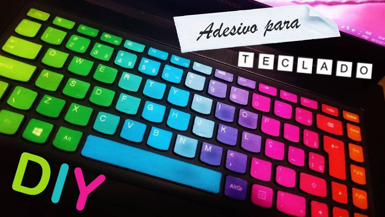 DIY Adesivo para teclado YouTube