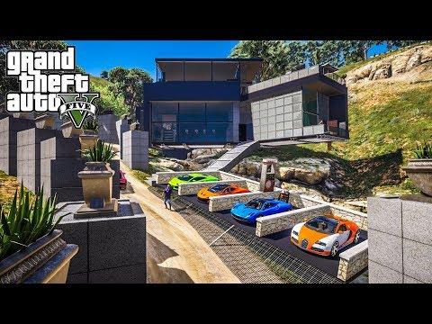 รวยเกิ๊น...ซื้อคฤหาสน์เศรษฐีกลางน้ำตก (Millionaire Waterfall Mansion MOD GTA5)