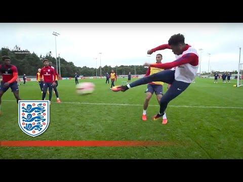 Chalobah cheeky nutmegs & Akpom volleys in England U21 training   Inside Training