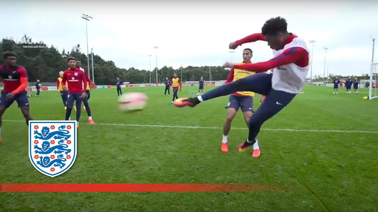 Chalobah cheeky nutmegs & Akpom volleys in England U21 training | Inside Training