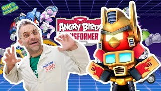 ANGRY BIRDS TRANSFORMERS: ДОКТОР ЗЛЮ и СВИНОТРОН играют! ТРЕНИРОВКА против врагов! 13+