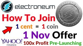 How To Join Electroneum Coin 100x Profit Pre Launching Offer 1Cent 1Coin Offer Hindi/Urdu