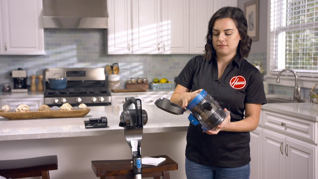Hoover ONEPWR Blade Cordless Vacuum - How to Empty & Replace the Dirt Cup