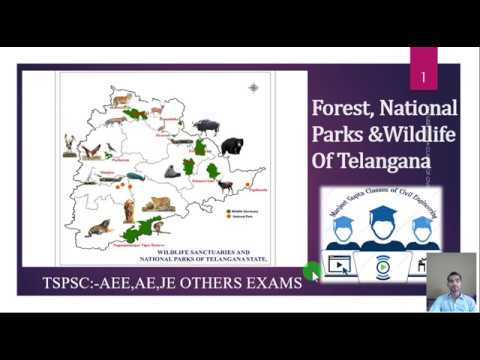 #TSPSC 2018 Forest area, national parks , wild life sanctuary of telangana in ENG