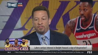 """Chris Broussard: Dwight Howard & Lakers have """"mutual interest"""" in a reunion after Cousins' torn ACL"""