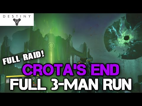 3-Man Crota's End NM Run! | Destiny PS4 Moon Raid | (1080p)[HD]