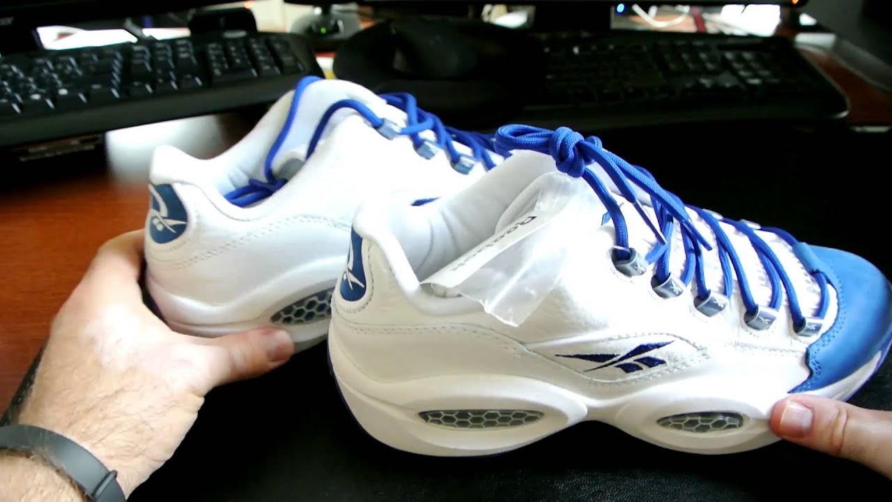 a6503813cd0b Reebok Question Low - White And Blue - YouTube