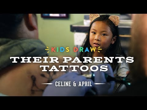 Celine Designs Her Mom's First Tattoo | Kids Draw | Cut