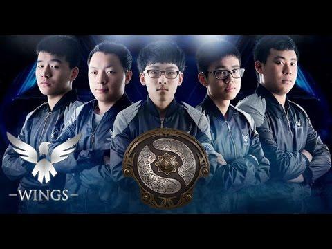 dota 2 wings gaming t16 champions youtube