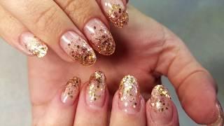 Растяжка блёстками | Дизайн ногтей 2018