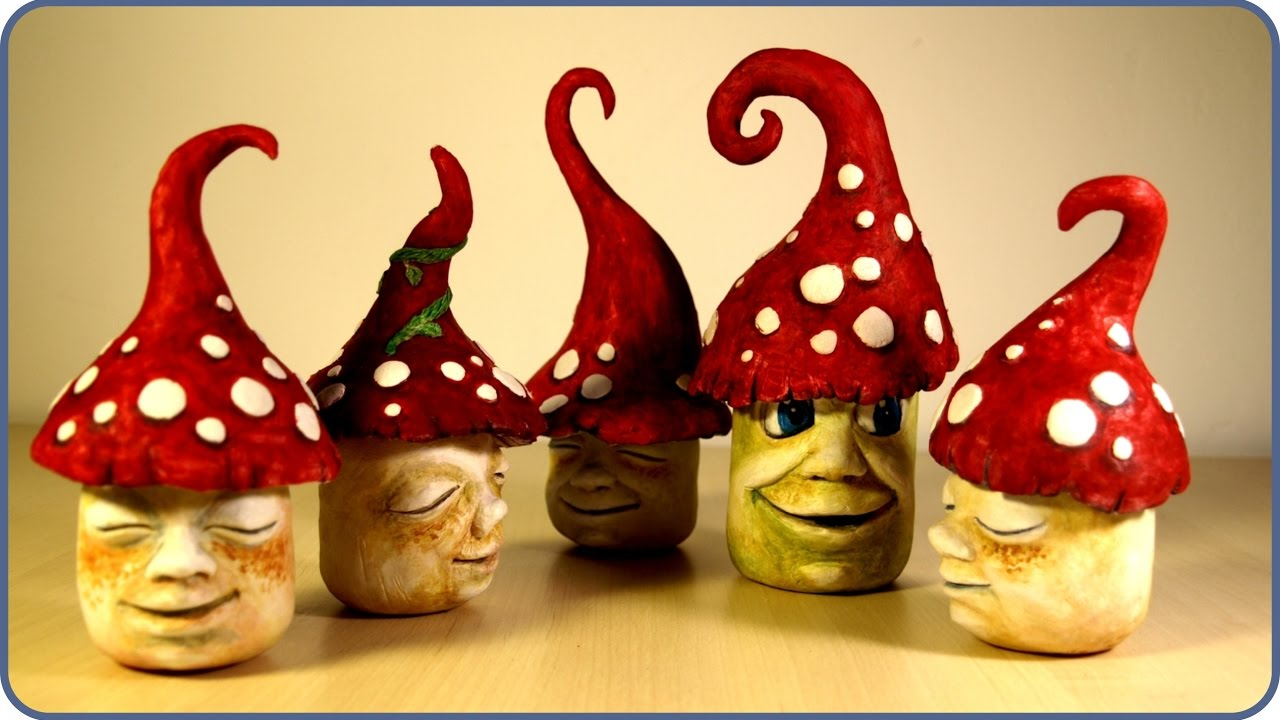 Diy Fairy Garden Mushroom Gnomes Youtube