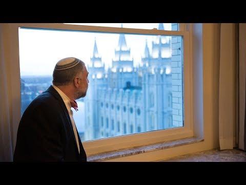 Jewish Leaders Tour Church Welfare Operations and Jordan River Utah Mormon Temple