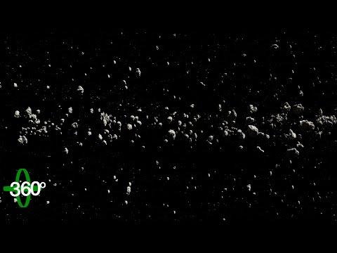 360° Asteroid Belt – Flight through Asteroids VR