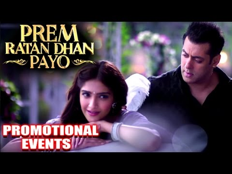 Prem Ratan Dhan Payo Movie Promotional Events Salman Khan Sonam Kapoor