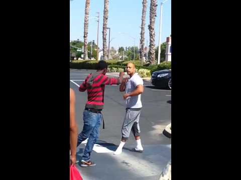 Bad fight at Burger King in Palmdale.