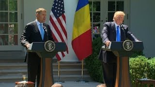 Trump, Romanian President&#39s press conference (full)