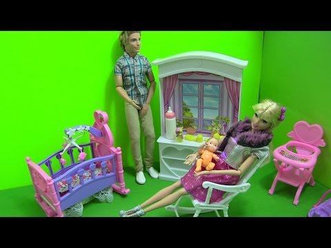 Cuộc Sống Barbie & Ken (Tập 6) Barbie Mua Giường Ngủ - Chuẩn Bị Phòng Cho Em Bé