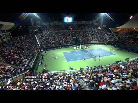 Federer's Hot Shot Winner In 2014 Dubai QF