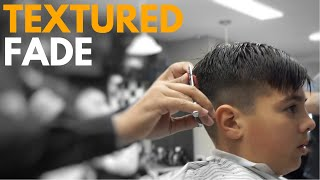 Textured Summer Haircut for a Young Man | New York Barbers