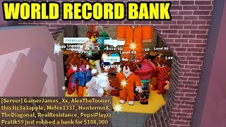 WORLD RECORD LARGEST BANK and TRAIN ROBBERY | Roblox Jailbreak